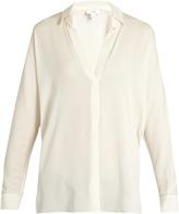 Vince V-neck silk-blend blouse