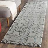 """Safavieh Dip Dye Collection DDY711B Handmade Moroccan Geometric Watercolor Grey and Charcoal Wool Runner 2' 3 """" x 14'"""
