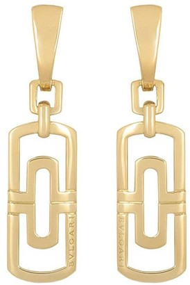 Bvlgari Pre-Owned 18kt Yellow Gold Drop Earrings