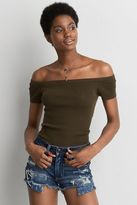 American Eagle Outfitters AE Ribbed Off-the-Shoulder Sweater