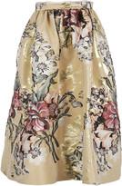 Fendi Baroque Flower Midi Skirt