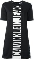 CK Calvin Klein logo print T-shirt dress