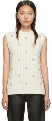 Simone Rocha Moncler Genius 4 Moncler Off-White Crystal Vest