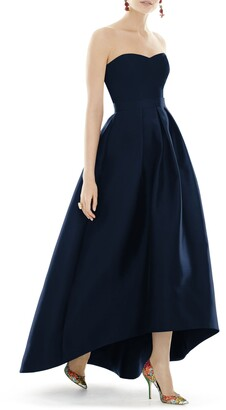 Alfred Sung Strapless High/Low Ballgown