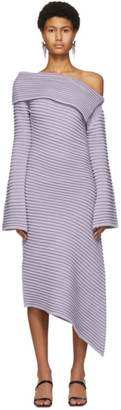 DRAE SSENSE Exclusive Purple Rib Knit Dress