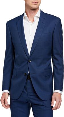 BOSS Men's Slim-Fit Micro-Pattern Two-Piece Wool Suit