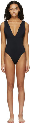 Haight Black Crepe Raquel One-Piece Swimsuit