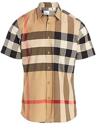 Burberry Somerton Vintage Check Stretch-Cotton Shirt
