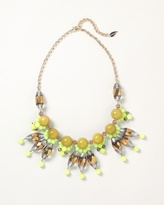 Citron cluster bib necklace