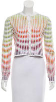 M Missoni Cropped Patterned Cardigan