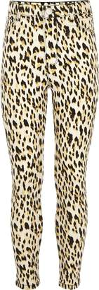 River Island Girls Brown Molly leopard print jeggings