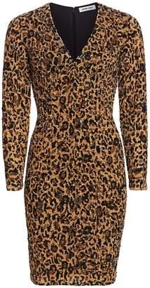 Pamella Roland Leopard Sequin Cocktail Dress