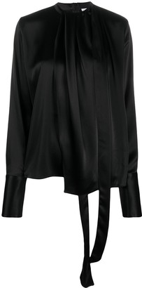 Loewe Draped Neck Long-Sleeve Blouse