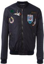 Dolce & Gabbana patch bomber jacket