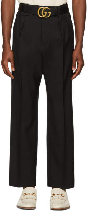 Gucci Black Wool Military Trousers