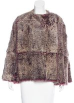 Gianfranco Ferre Vintage Rabbit Fur Cape
