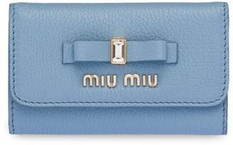 Miu Miu Bow Embellished Keyring Pouch