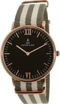 Kapten And Son Men's Campus CAMPUS-BLACK-SPACE-ROSE -40MM Rose Nylon Quartz Watch
