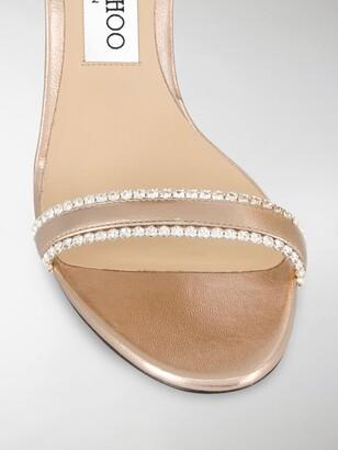 Jimmy Choo Dochas 100mm embellished sandals