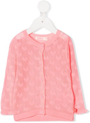 Billieblush Pointelle-Knit Cardigan