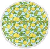 KD Home Lemons Round Beach Towel