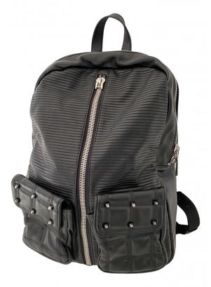 Silvian Heach Black Leather Backpacks