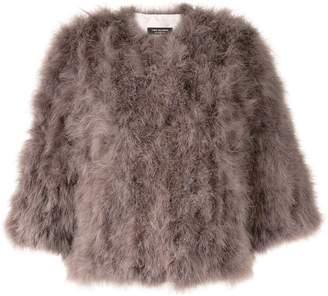 Yves Salomon feathered short jacket