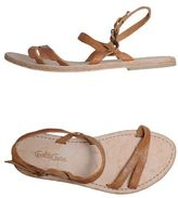 Gold Case Sandals