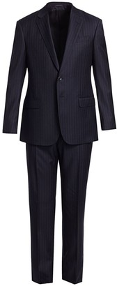 Giorgio Armani Pinstripe Single-Breasted Wool Suit