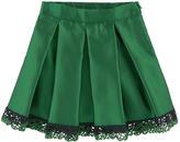 Miss Blumarine Taffeta and embroidery skirt