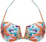 Vix Vivienne Tide Floral Print Bandeau Bikini Top