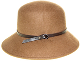 Nine West Pecan Wool Felt Trench Coat Hat