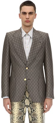 Gucci Gg Supreme Logo Wool Blend Jacket
