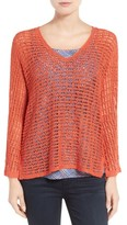 Nic+Zoe Petite Women's Sun Catcher Crochet Top