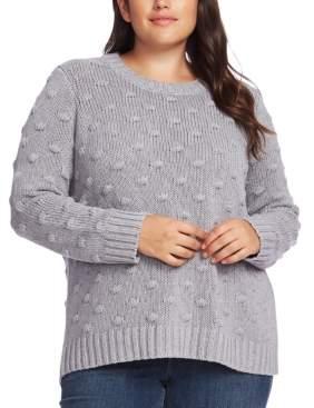Vince Camuto Plus Size Crewneck Popcorn Sweater