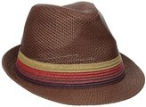 Perry Ellis Men's Braid Band Straw Fedora
