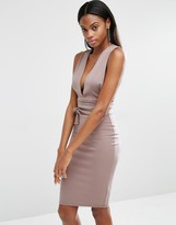Missguided Tie Waist Midi Dress