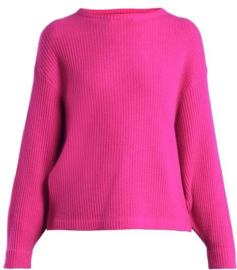 Allude Ribbed Knit Cashmere Sweater - Womens - Pink