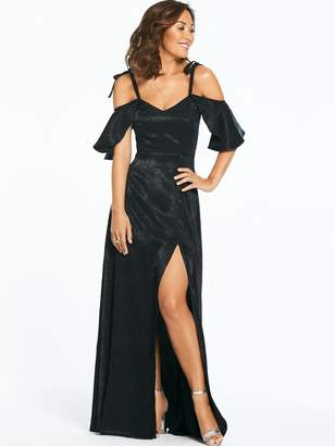 Myleene Klass Jacquard Ruched Side Maxi Dress