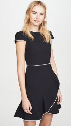 Alice + Olivia Kirby Piped Ruffle Short Sleeve Dress