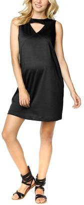 Maternal America Women's Maternity Triangle Keyhole Dress