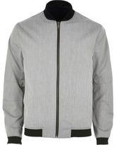 River Island MensGrey formal bomber jacket