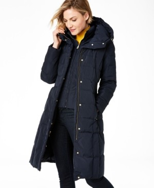 Cole Haan Box-Quilt Down Puffer Coat