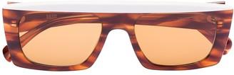 KALEOS Havana ivory rectangular sunglasses