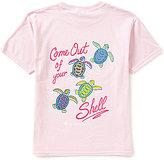 Itsa Girl Thing Big Girls 7-16 Short Sleeve Turtle Tee