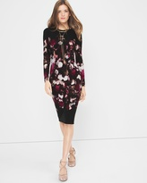 White House Black Market Long-Sleeve Printed Dress