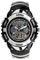 SKMEI Kid's Boys Girls Sport Analog-Digital Led Week Alarm Chronograph Wrist Watch