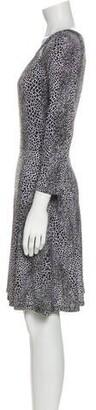 MICHAEL Michael Kors Animal Print Knee-Length Dress w/ Tags Black