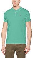 Scotch & Soda Men's Garment Dyed Polo in Pique Quality T-Shirt