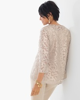 Chico's Lace Scroll Jacket